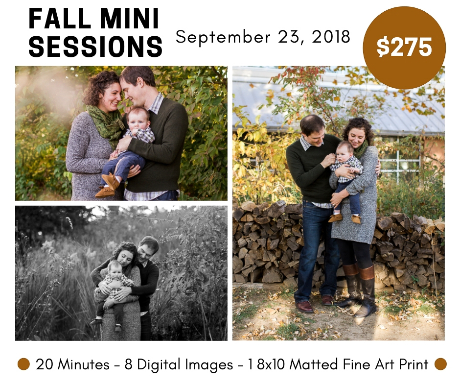 Kansas City fall mini sessions, fall family photos, September photo session, mini engagment session, affordable family photographer, Rebecca Clair Photography