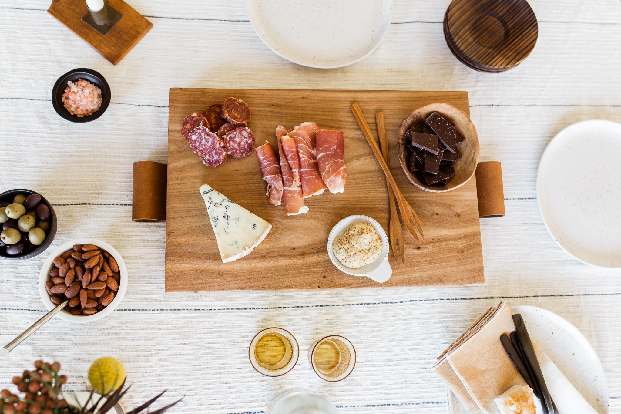 Overhead photo of charcuterie board, Halo youth cutting board styled session, Kansas City food photography, Rebecca Clair Photography