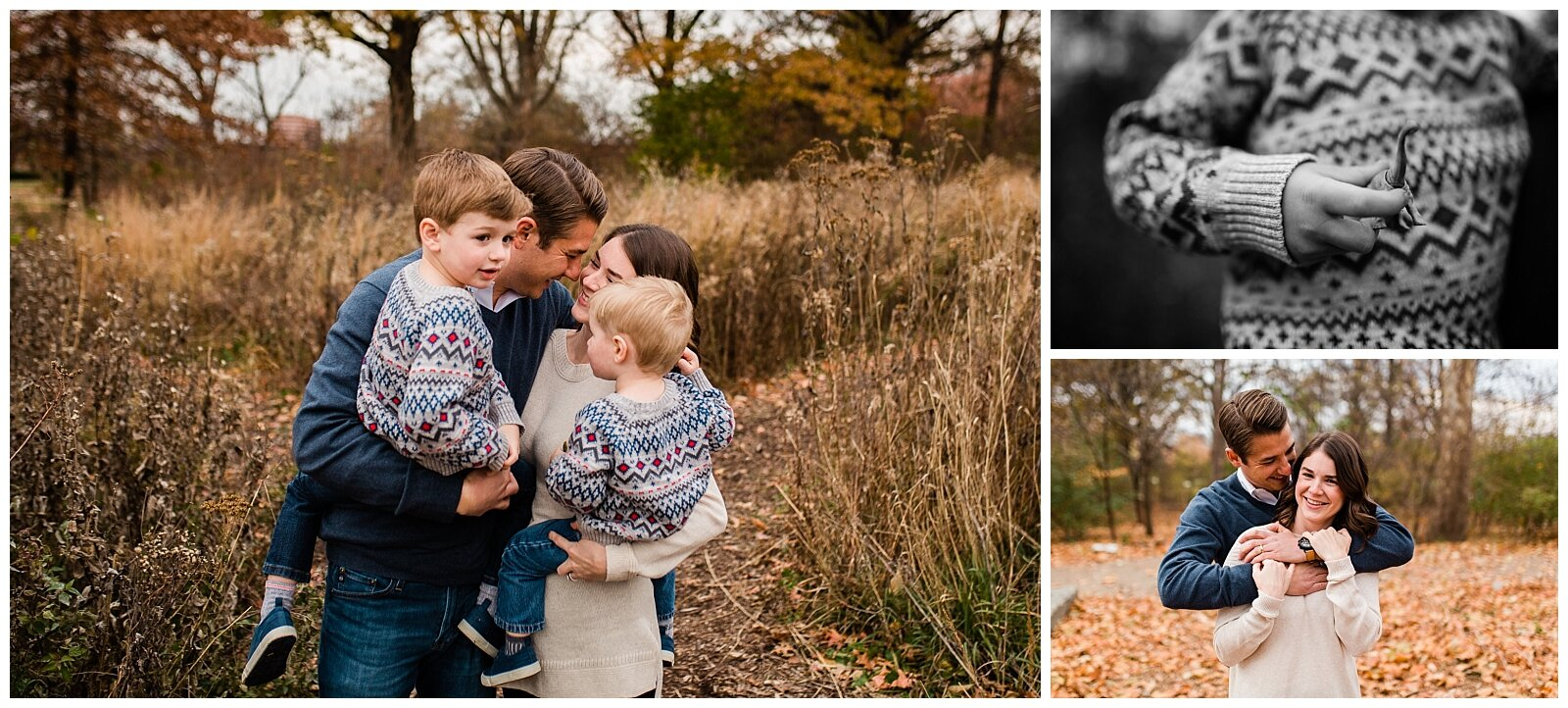 Black and white portrait of family embracing in a field, emotional family portrait, Kansas City candid family photographer, Rebecca Clair Photography