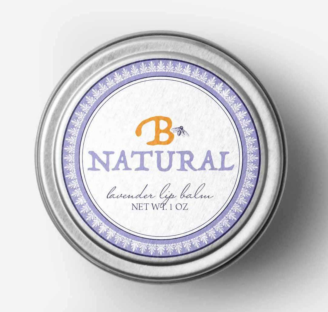 Bee Natural Lip Balm Label