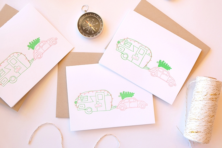 holiday camper trailer card