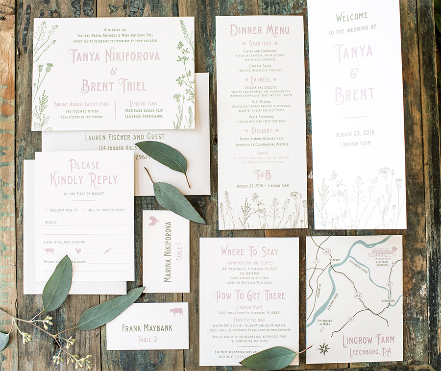 Anatomy Of A Wedding Invitation Suite Harken Press