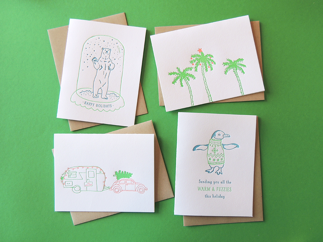 Harken Press : illustration, letterpress holiday cards