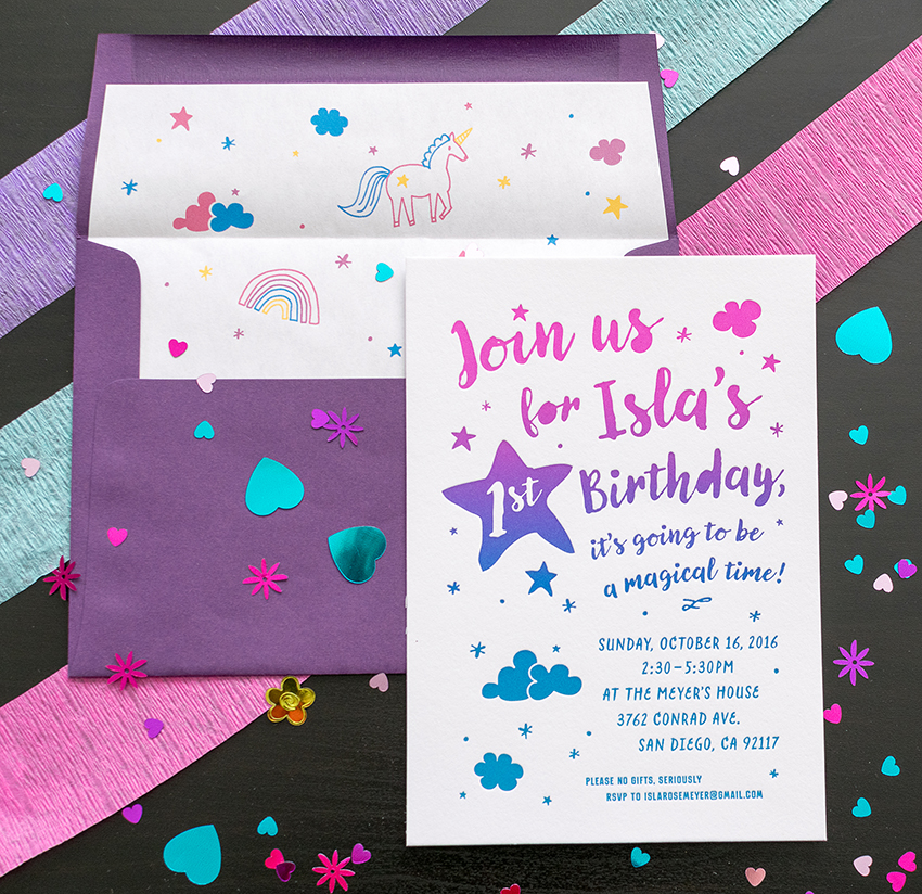 Harken Press : letterpress party invitation