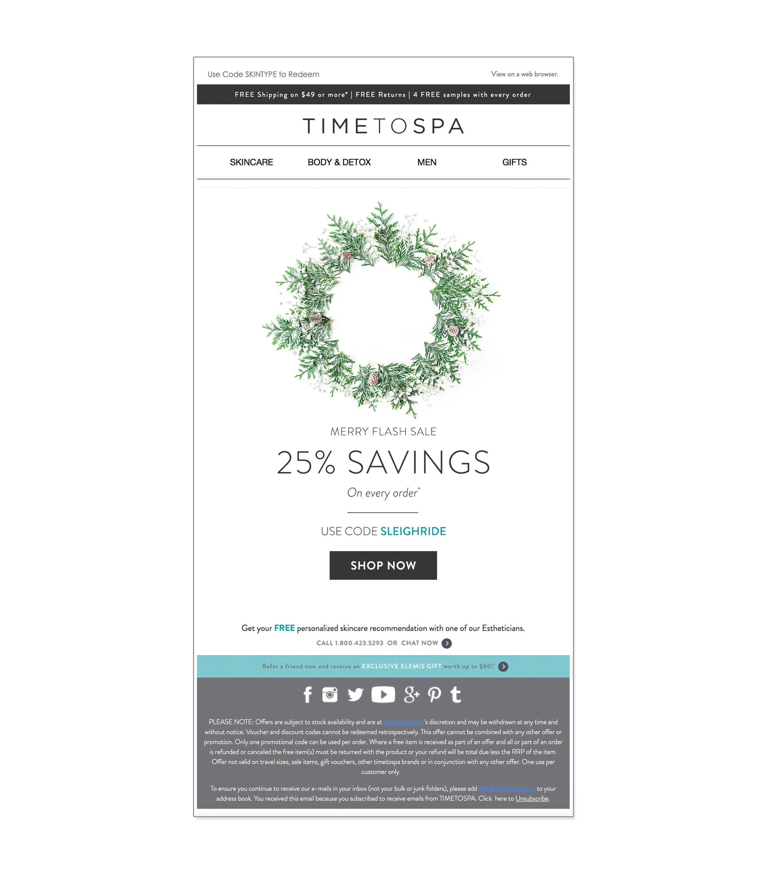 TimeToSpa : email design