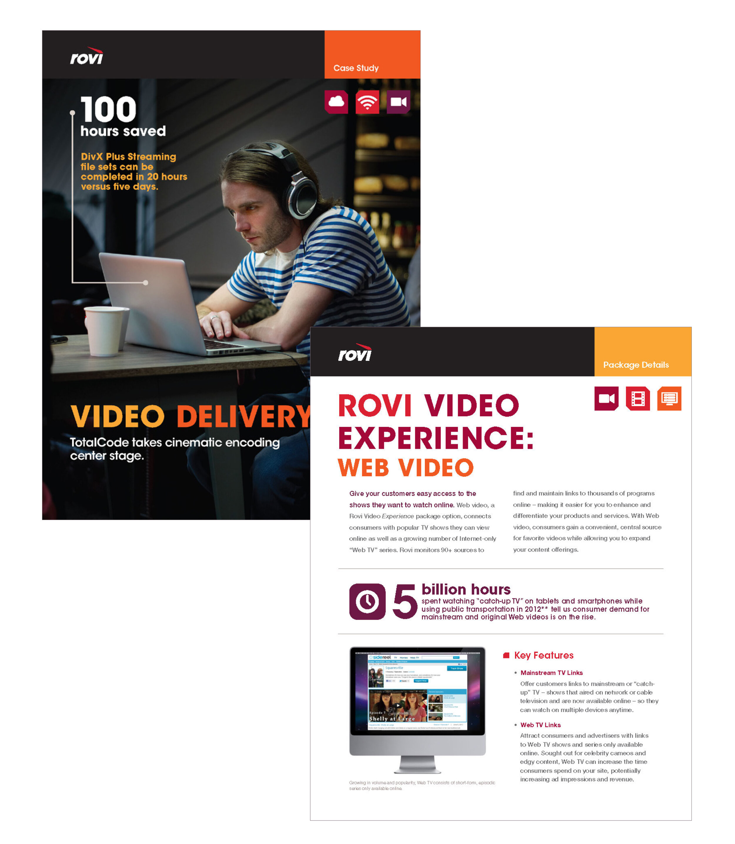 Rovi : marketing and sales material