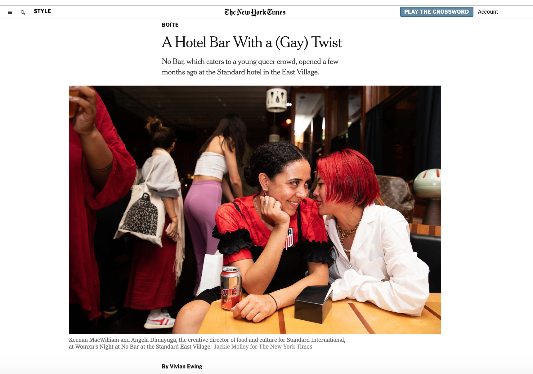 A Hotel Bar With a (Gay) Twist - The New York Times