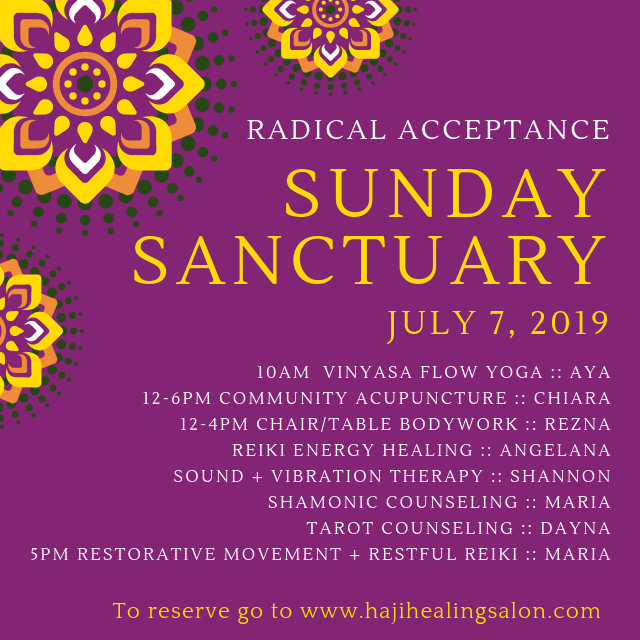 Sunday Sanctuary Community Healing offers varied services each week!