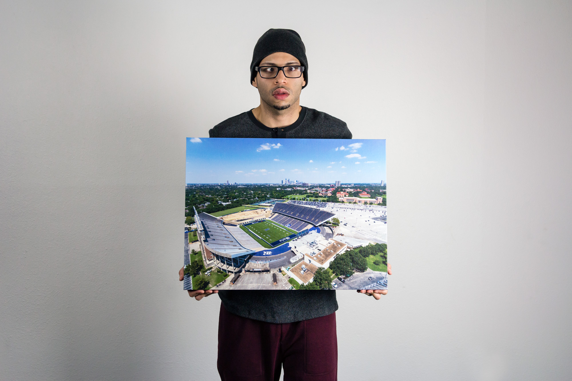 Rice Stadium - Canvas Print