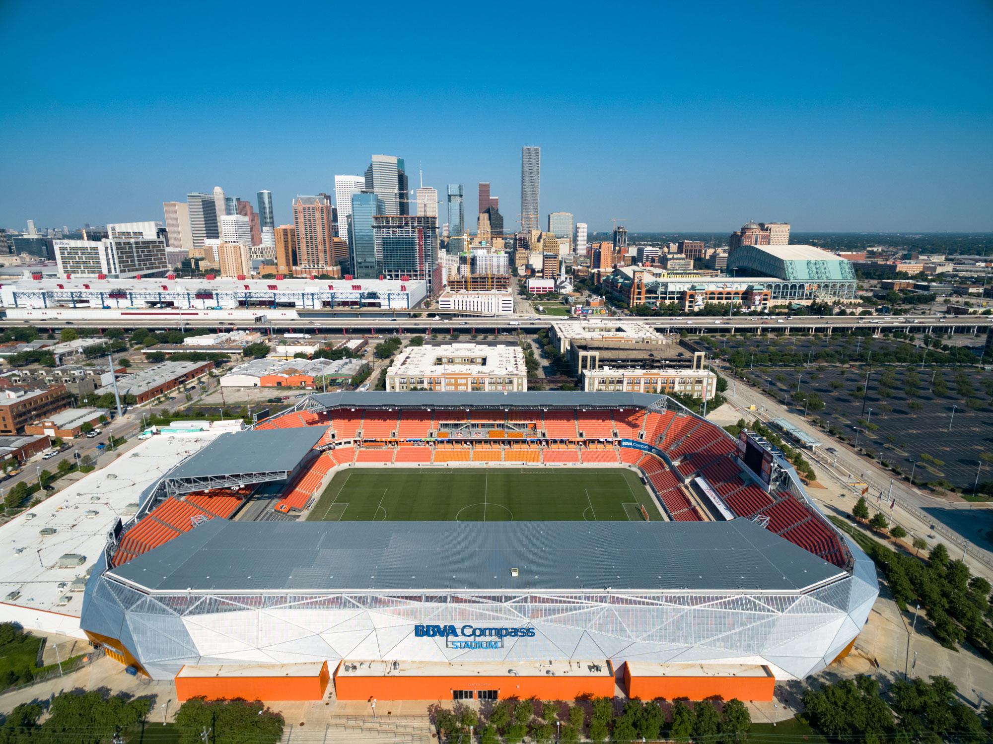BBVA Compass Stadium - Canvas Print - Houston Sports Scene