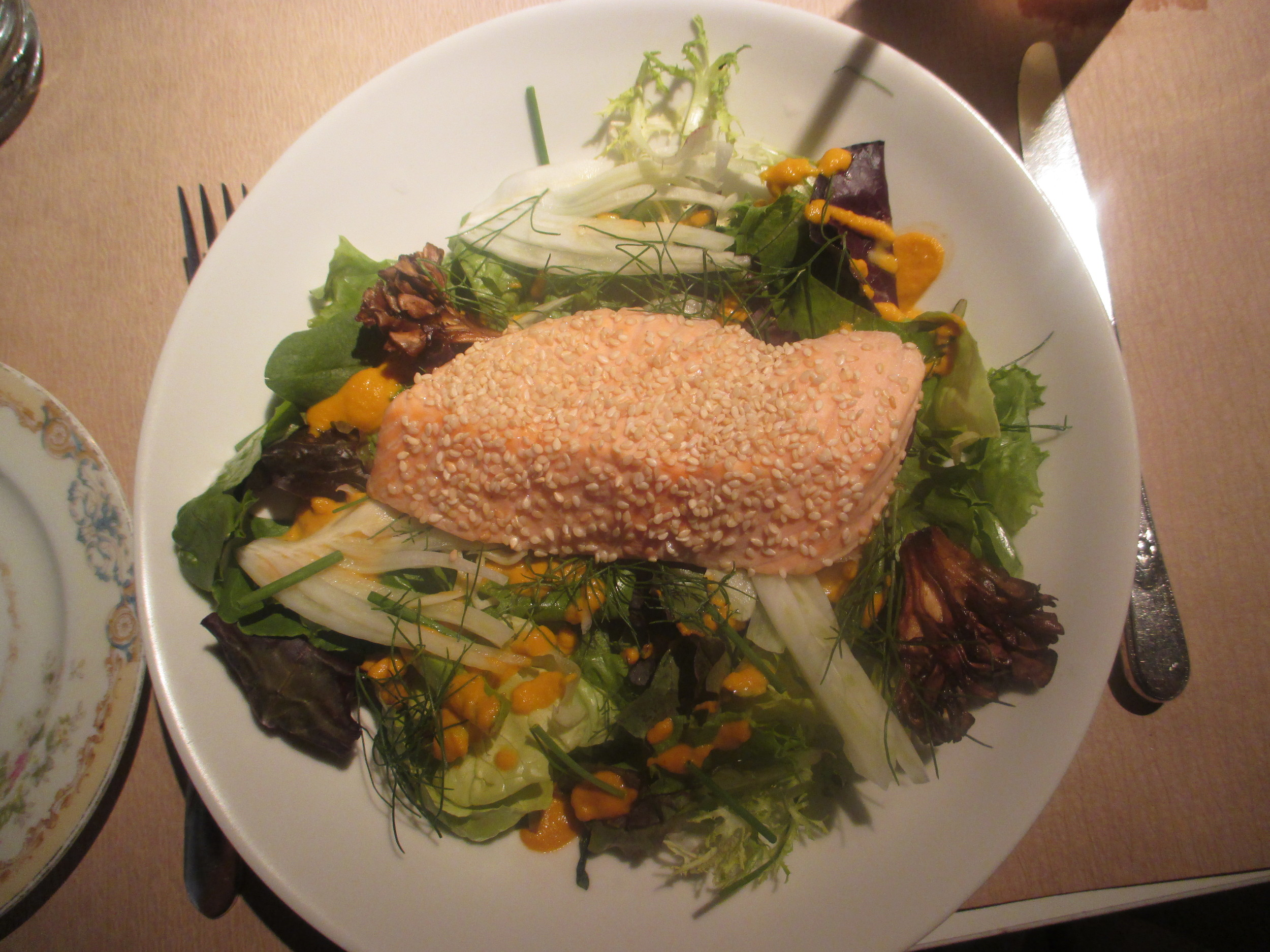 Salmon ginger salad