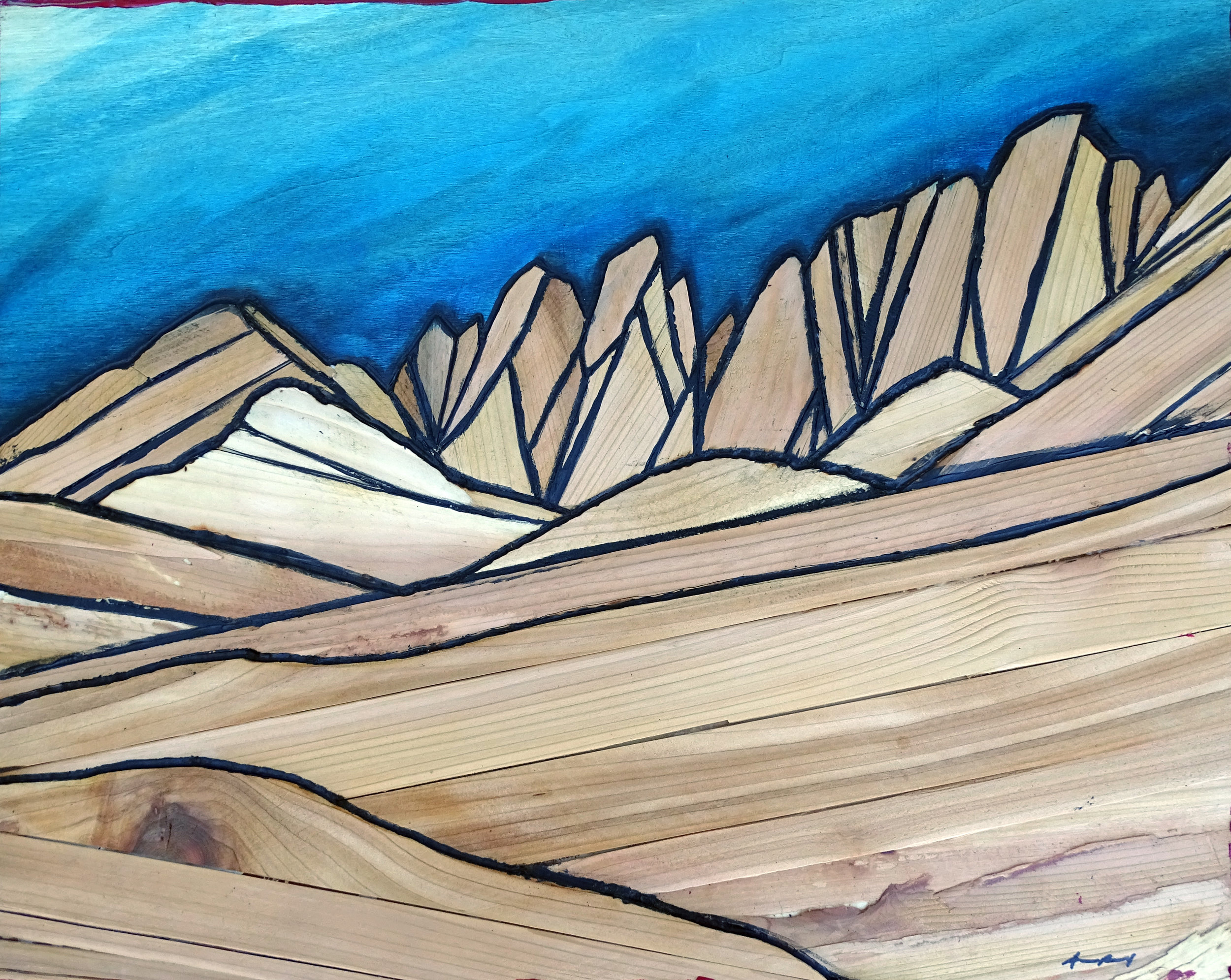 PAIUTE CRAGS   Sierra Nevada Wood Mosaic