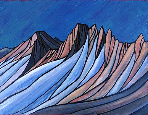 """Feather and Royce  Sierra Nevada  Acrylic 11"""" x 14"""""""