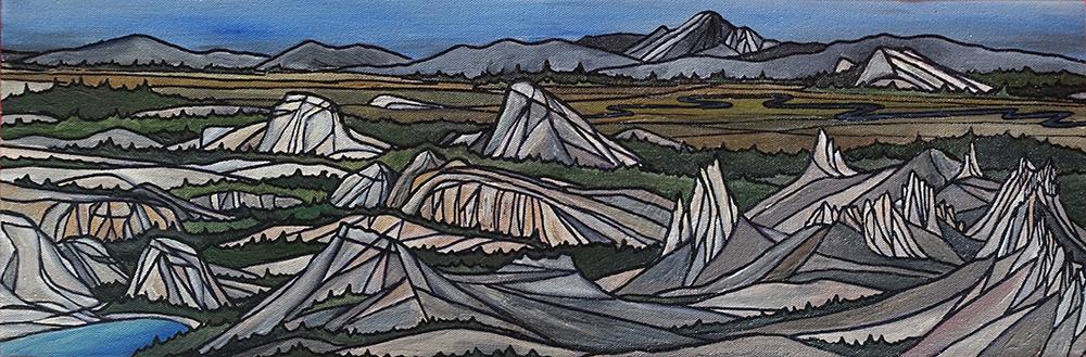"TUOLUMNE MEADOWS  Yosemite  Acrylic 8"" x 24"""