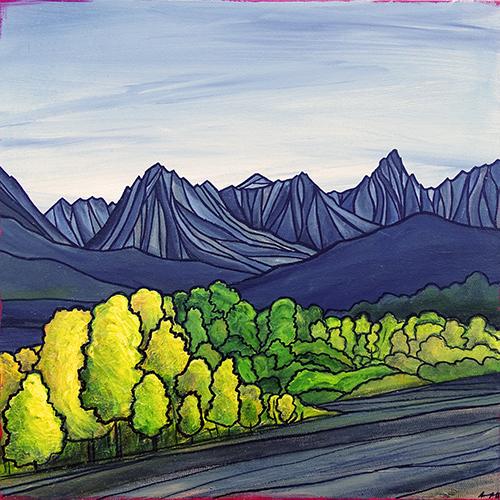 "ASPENDELL ASPENS  Sierra Nevada  Acrylic 20"" x 20"""