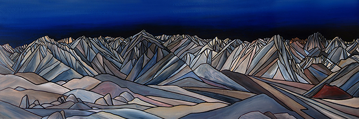 "OWENS VALLEY SKYLINE  Sierra Nevada  Acrylic 20"" x 60"""