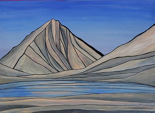 "MERRIAM PEAK  Sierra Nevada  Acrylic 30"" x 40"""