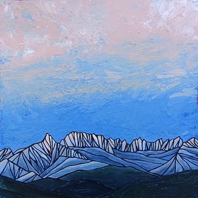 "SAWTOOTHS  Sierra Nevada   Acrylic 20"" x 20"""