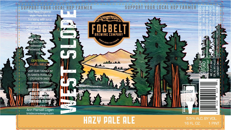 Fogbelt Brewing , Santa Rosa, CA  Hazy Pale Ale Can Design