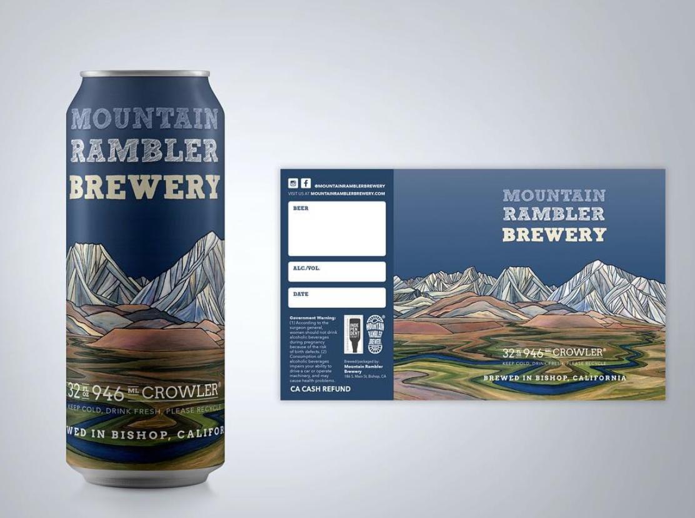 Mountain Rambler Brewery Crowler  collaboration with Keri Davis of Sharp End Designs