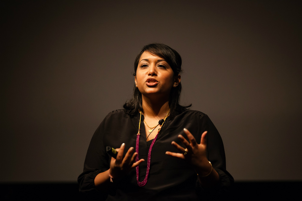 Day 2 Keynote: How funny videos can help build cultural understanding. Trina DasGupta, Single Palm Tree Productions, CEO ©Robert Wright/LDV Vision Summit