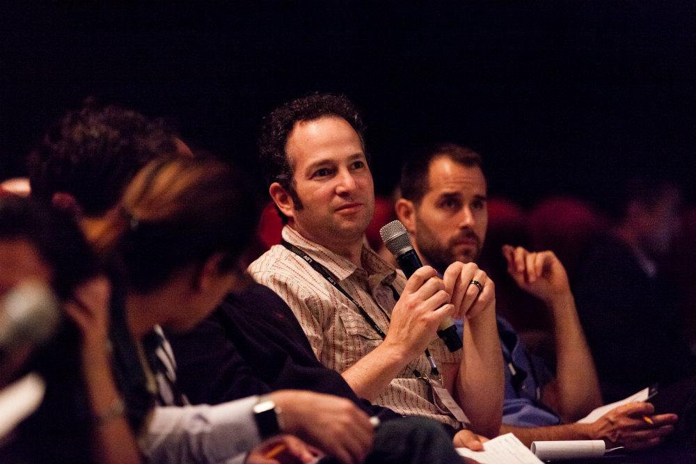 Josh Weisberg, Microsoft, Principal PM, Computational Photography asking a question. ©Robert Wright/LDV Vision Summit