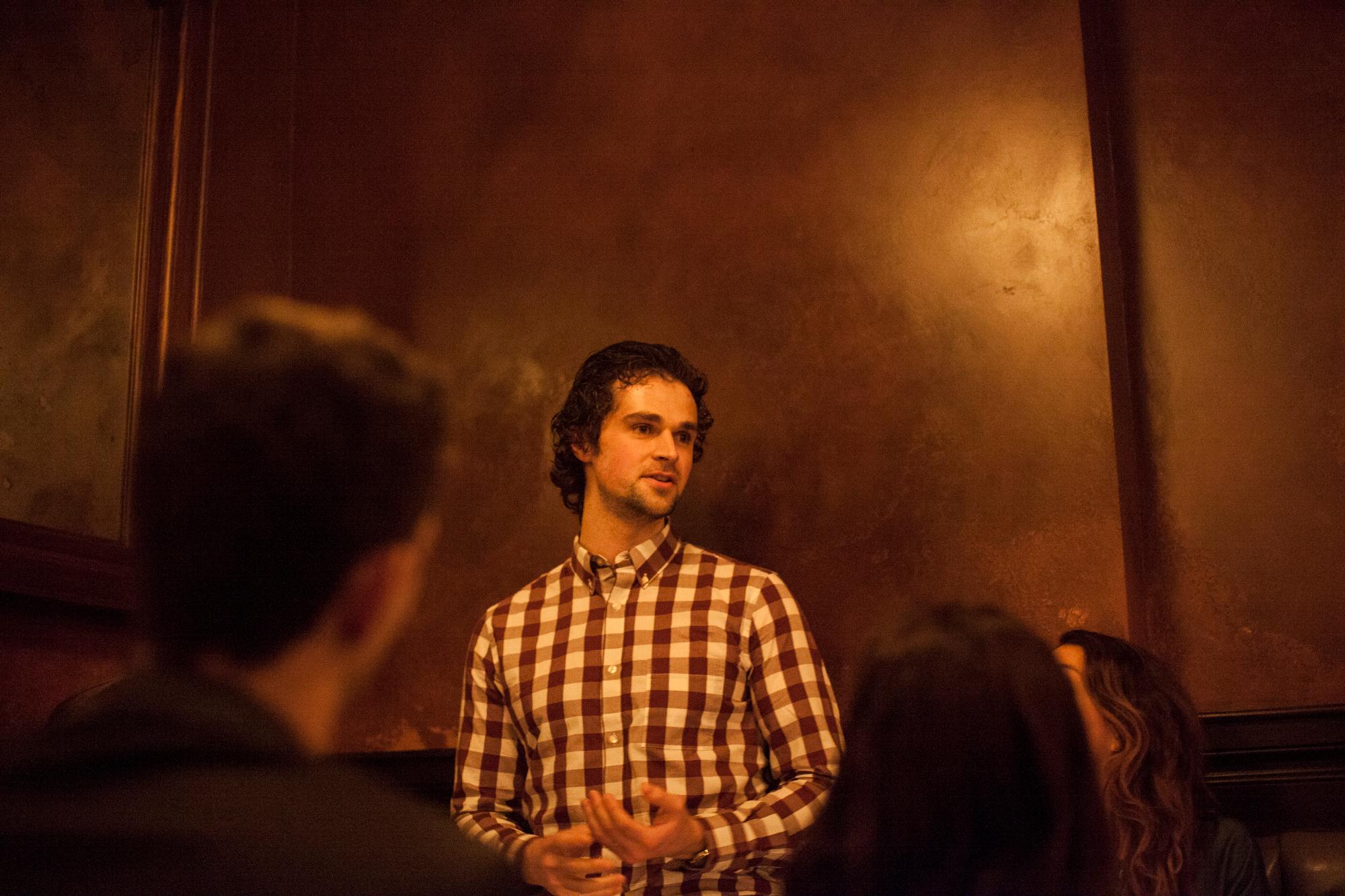 Matt Zeiler at one of our monthly LDV Community Dinners. ©Ron Haviv