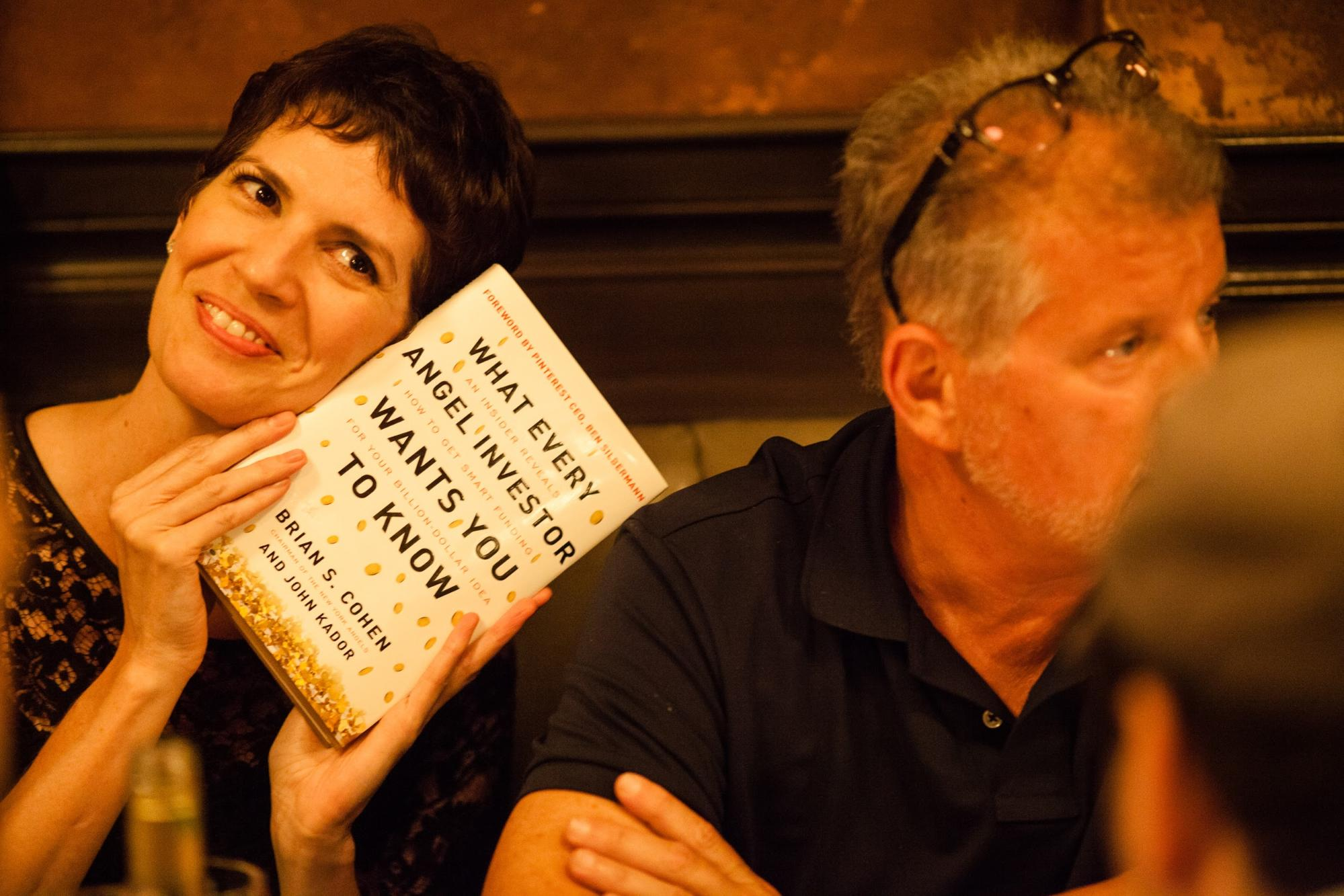 Kelly Hoey and Brian Cohen at our LDV Community Dinner, July 2015 ©Robert Wright