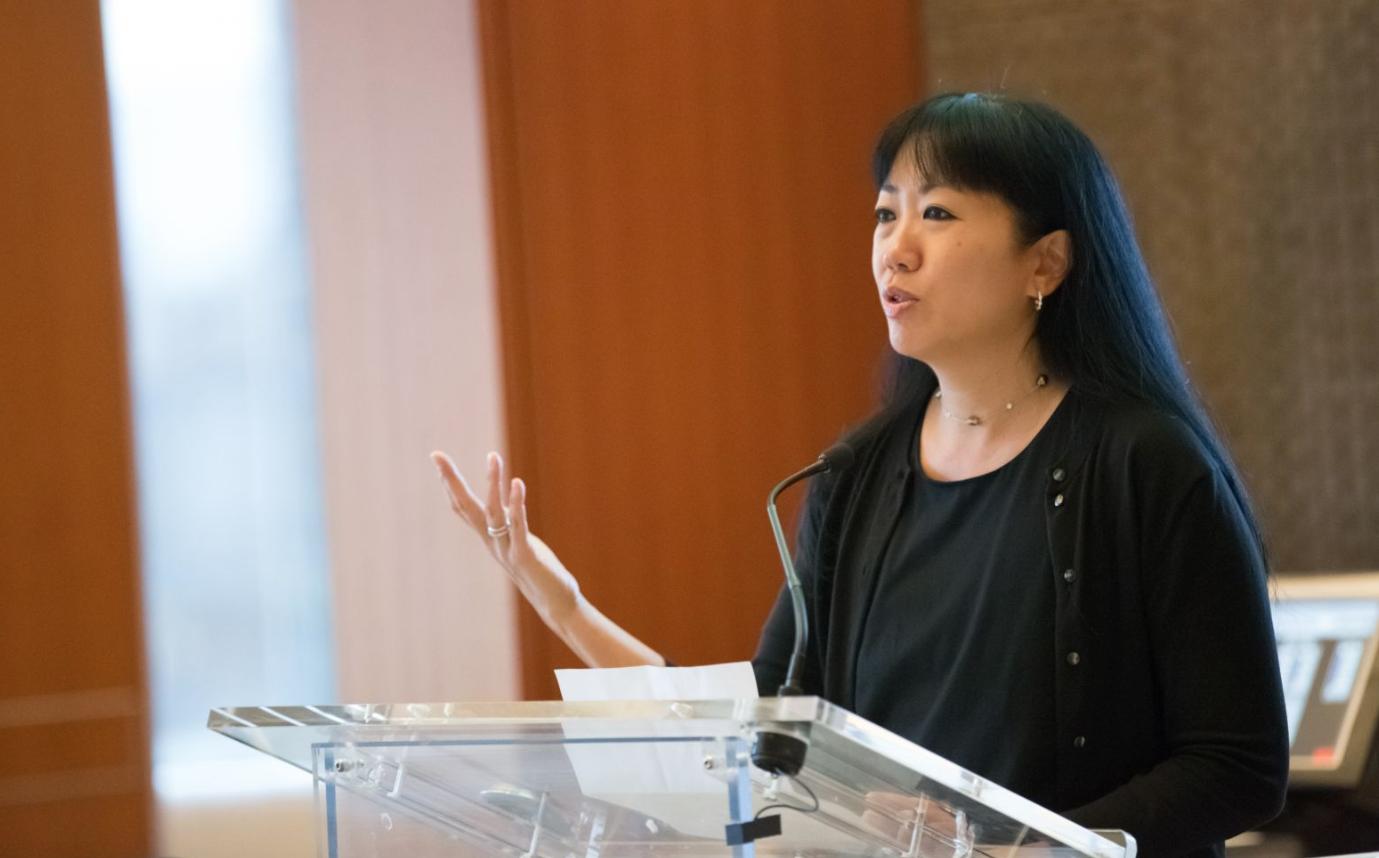 Rachel speaking at Time Warner Portfolio Day