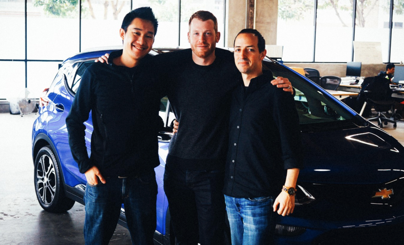Cruise Co-Founders Dan Kan and Kyle Vogt with Nabeel after taking a test drive.