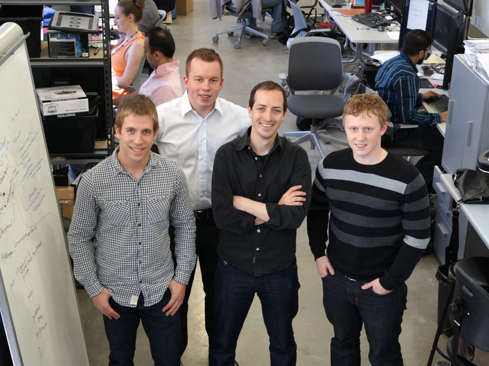 Nabeel with North (formerly Thalmic Labs) Co-Founders Matthew Bailey, Aaron Grant and Stephen Lake.