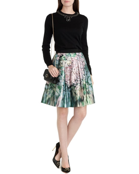 Ted BakerGlitch floral full skirt