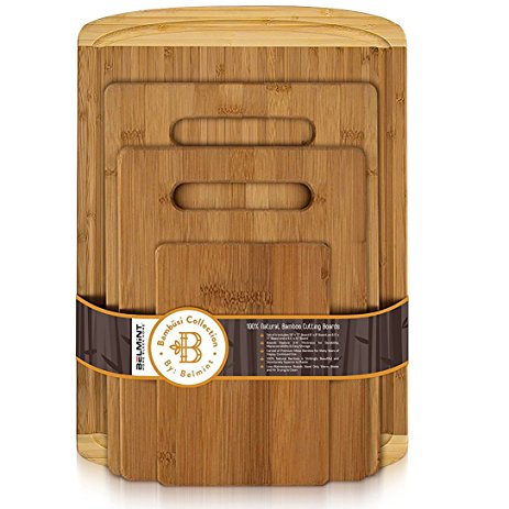 100% Organic Bamboo Chopping Board Set of 4 (30 % off)