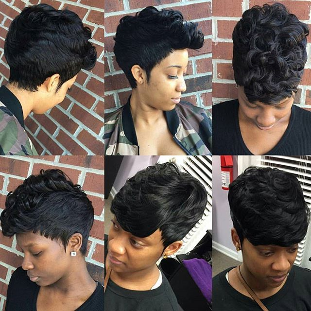 Short, sweet, and SLAYED. Custom cuts by Coco (@prettyhealthyhair)! || BOOKING: 803-451-0225 or www.styleseat.com/CocoBovain