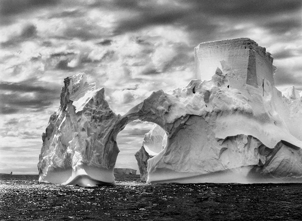 Iceberg between Paulet Island & the Shetlands Islands, Antarctica, 2005/Printed 2006   24 x 35 inches  Gelatin silver print