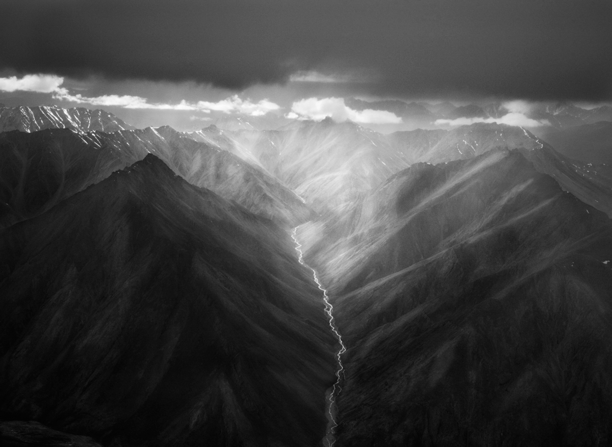 Eastern Part of the Brooks Range, Alaska, USA (Horizontal), 2009/Printed 2009   20 x 24 inches.  Gelatin silver print