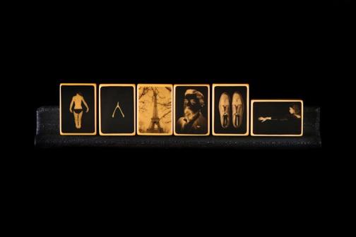 Mahjong 3 2013  Open Edition Film Positive on vintage Bakelite Mah Jongg tiles