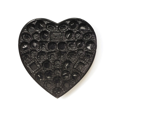 Black Heart, 2002  Candy Tray series 48 x 48 inches Pigment print, Edition 6