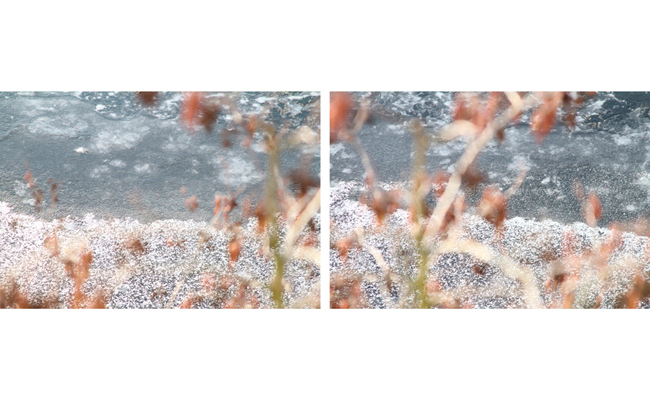 Untitled (snow1 & snow2)   2010-11  20 x 30 inches each  Archival pigment print