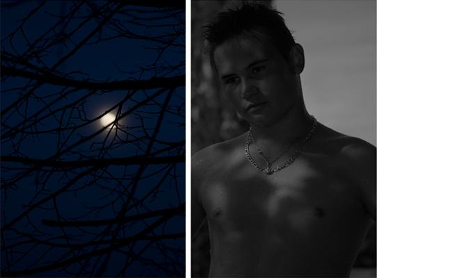 Untitled diptych (moon & Romain)   2010-11  30 x 20 inches each  Archival pigment print