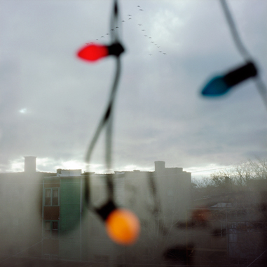 Geese with Lights, 1999  36 x 36 inches Archival pigment print