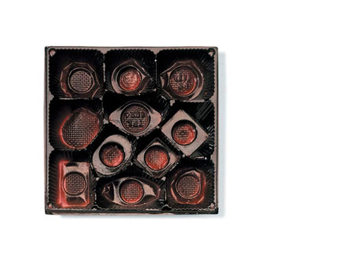 Candy Tray Series  Whitmans, 2002 24 x 24 inches Pigment print mounted with plexi, Estate edition 3/10