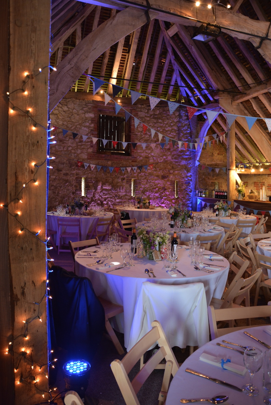 Titchfield Barn Wedding at set up and Photographed by Whiteley Weddings - Hampshire Wedding Photography