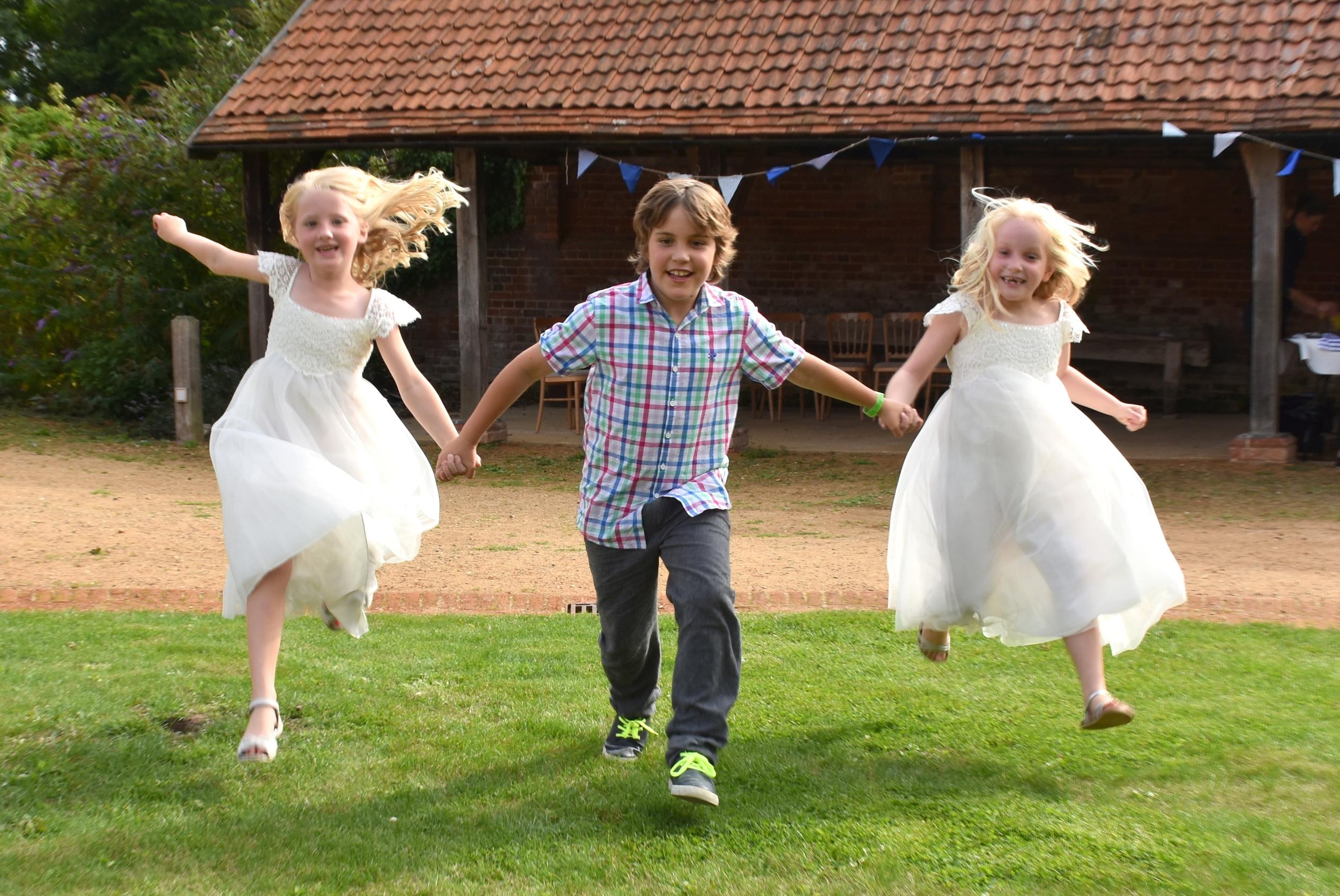 Children enjoying the day at Basing Barn, near Basingstoke
