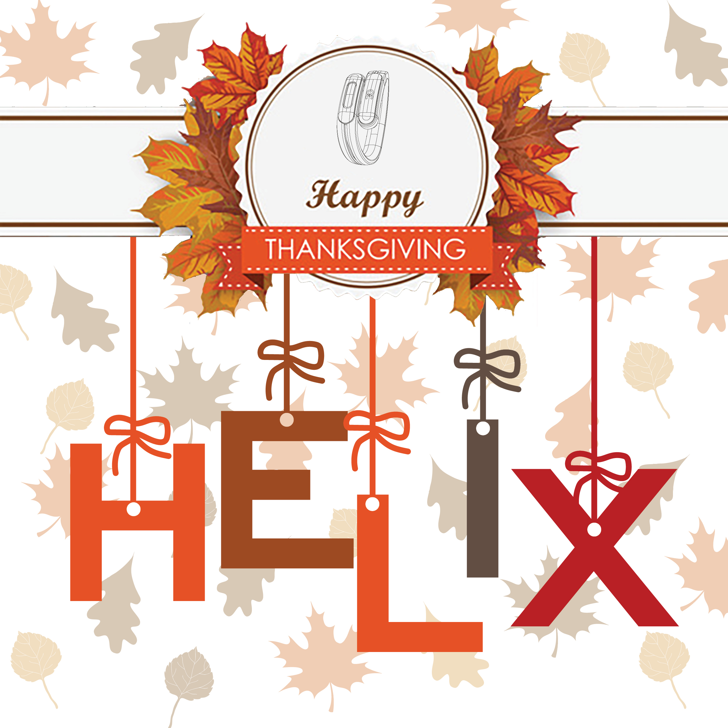 Happy Thanksgiving Helix Cuff