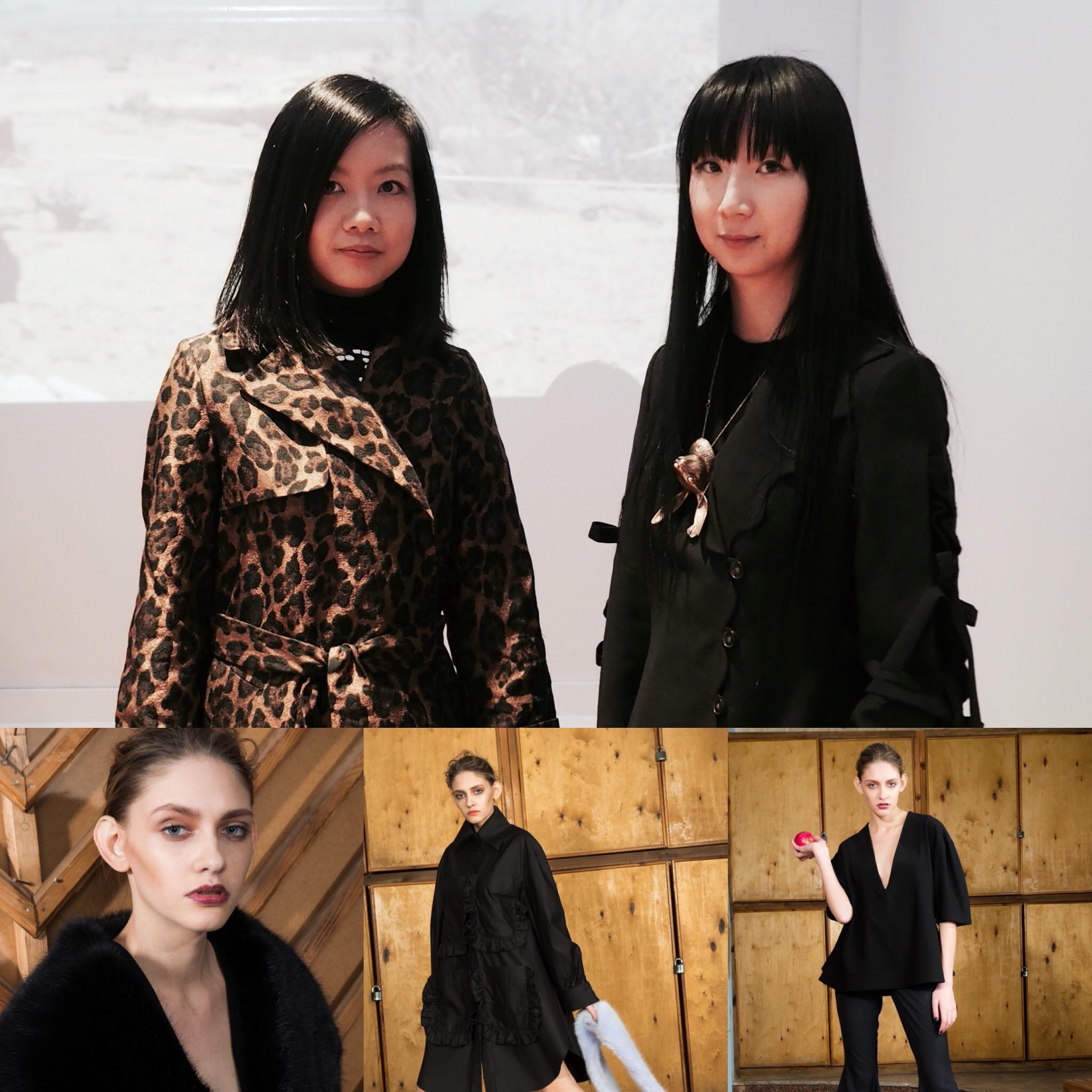 Angela Pan and Designer Nika Tang at Nika Tang's Presentation