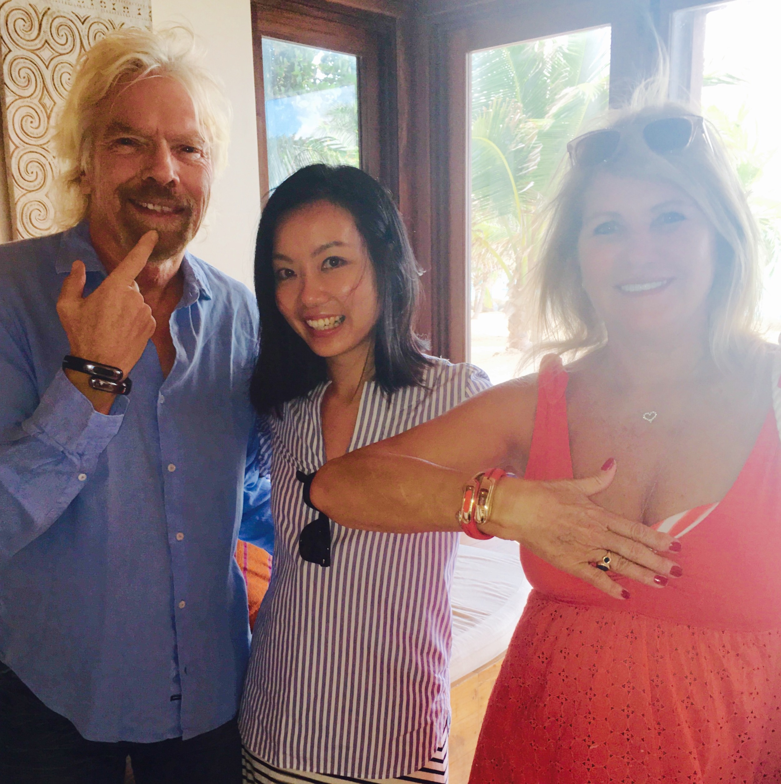 Sir Richard Branson and His Wife Joan Experiencing the Helix Cuff with Angela Pan