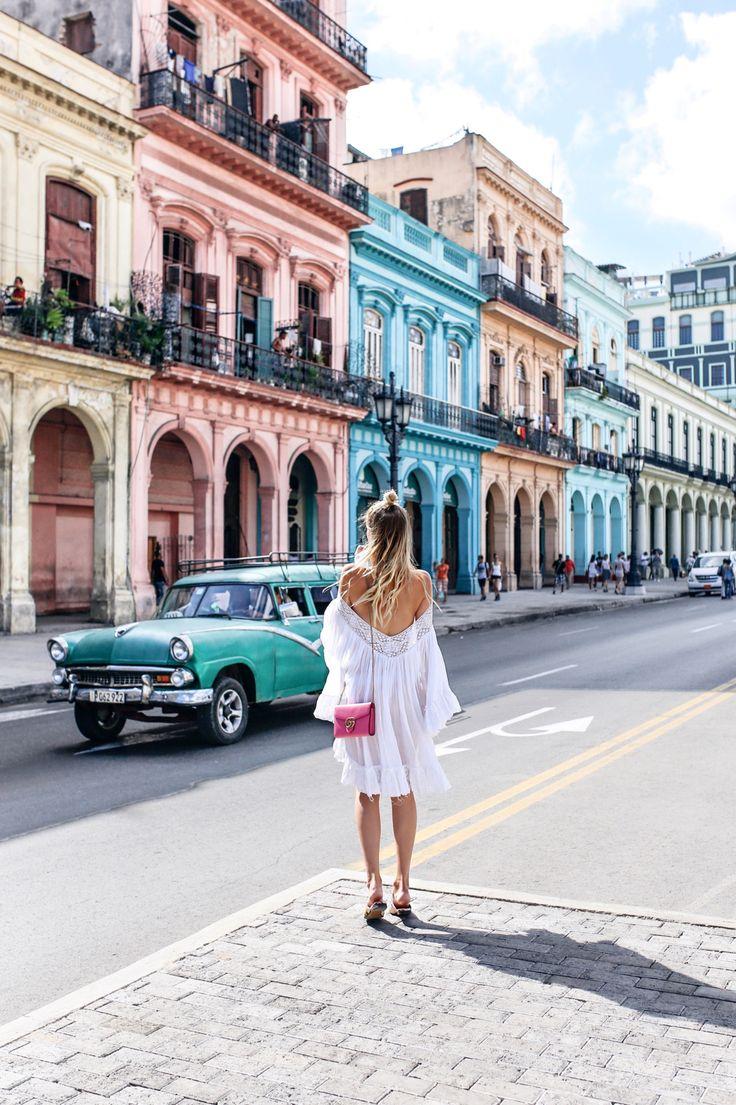 Trendy Cuba Traveling Girl