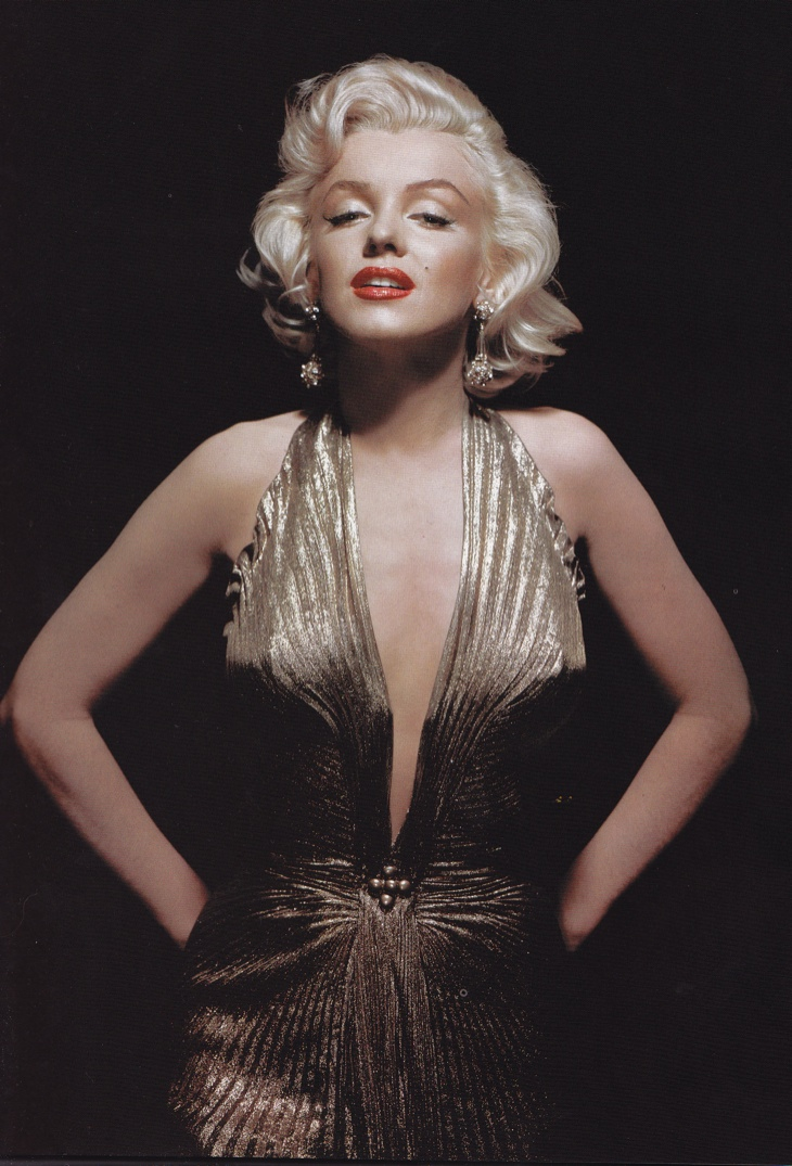 Gold Lamé Dress Designed by William Travilla