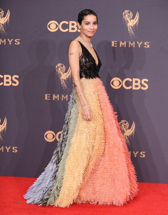 Photo by: Jason LaVeris, Zoe Kravitz, 69th annual Primetime Emmy Awards